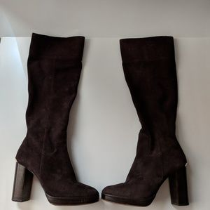 Michael Kors chocolate brown suede boots size 8M